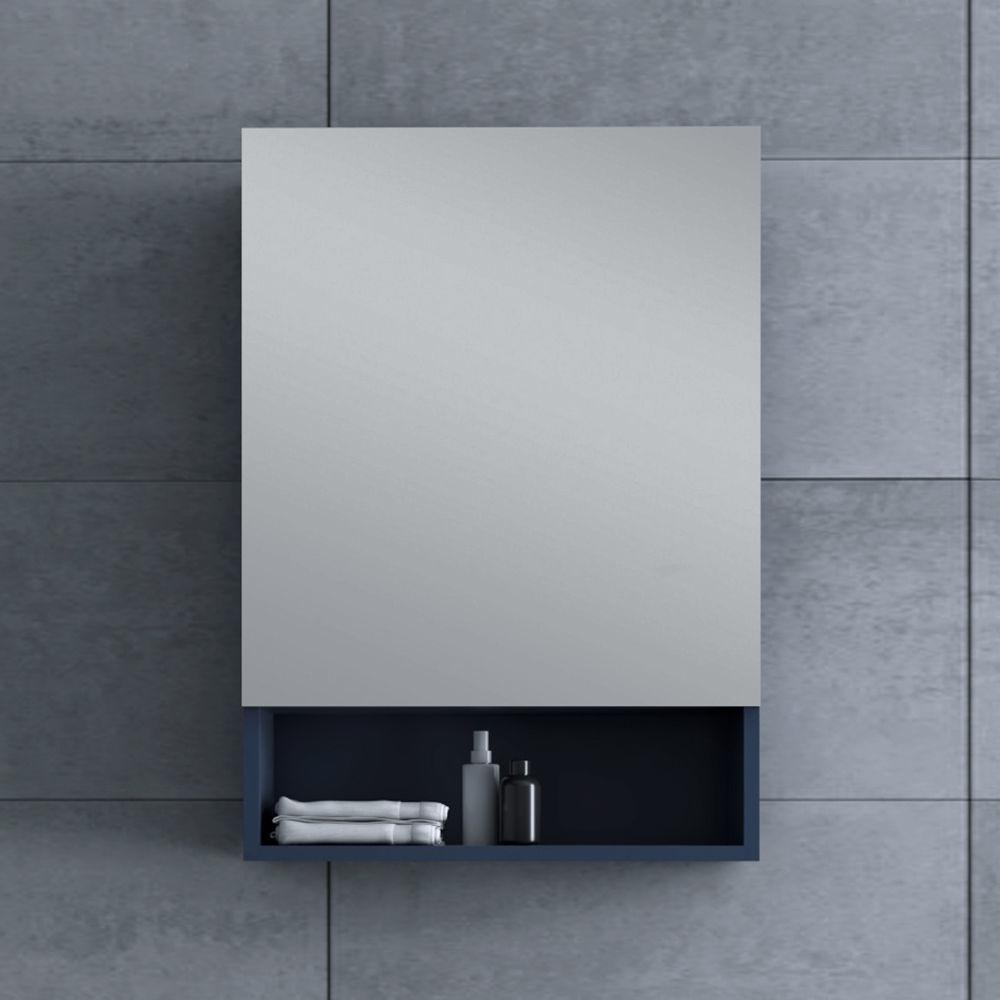 "Picture of 24"" Royal Blue Bathroom Medicine Cabinet w/ Small Bottom Shelf"