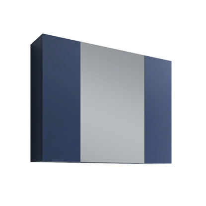 "Picture of 32"" Royal Blue Medicine Cabinet w/ 3 Doors"