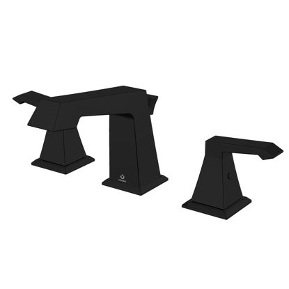 "Picture of 3 Hole 8"" Widespread Bathroom Faucet - Matte Black"