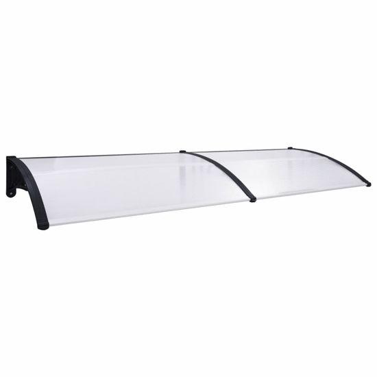 """Picture of Outdoor Door Canopy 118"""" - Black Transparent"""