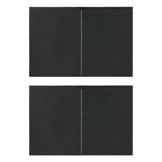 Picture of Outdoor Tent Sidewalls with Zipper - 2 pc Anthracite