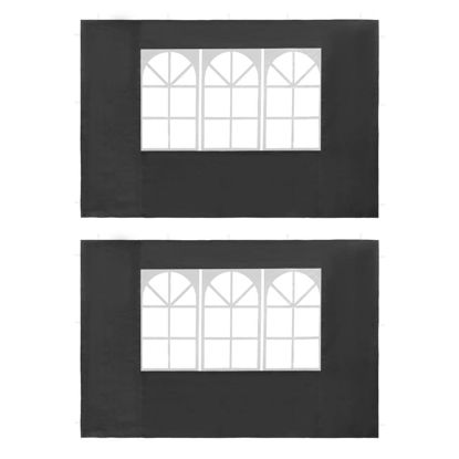 Picture of Outdoor Tent Sidewalls with Window - 2 pc Anthracite