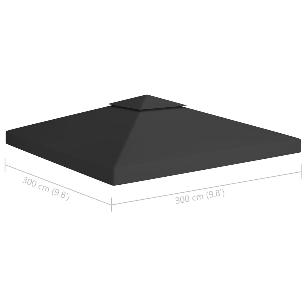 Picture of Outdoor 10' x 10' Top Replacement Tent Gazebo 2-Tier - Black