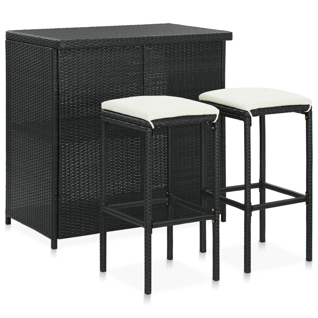Picture of Outdoor Bar Set - 3pc Black
