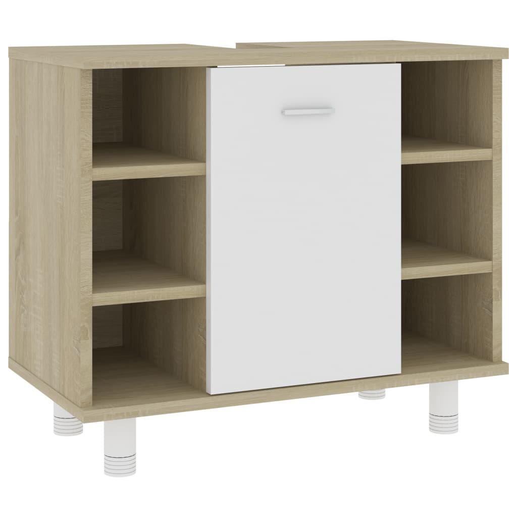 "Picture of 23"" Bathroom Cabinet - White and Sonoma Oak"