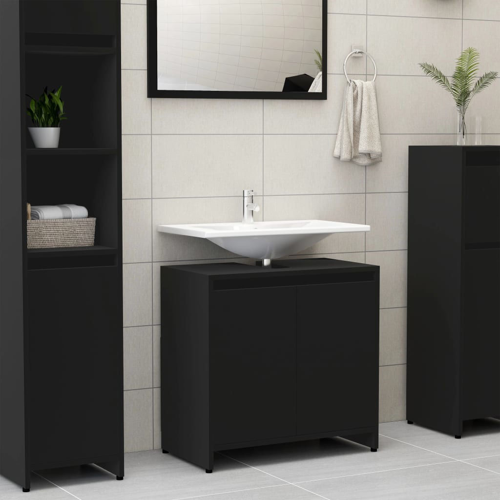 """Picture of 23"""" Bathroom Cabinet - Black"""