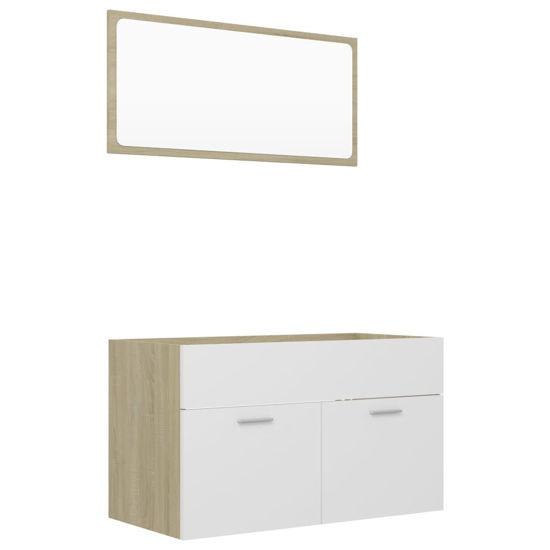 "Picture of 31"" Bathroom Furniture Set - White and Sonoma Oak"
