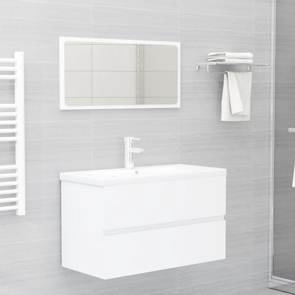 """Picture of 31"""" Bathroom Furniture Set with Mirror - White"""