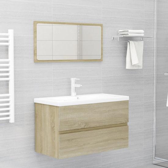 "Picture of 31"" Bathroom Furniture Set with Mirror - Sonoma Oak"