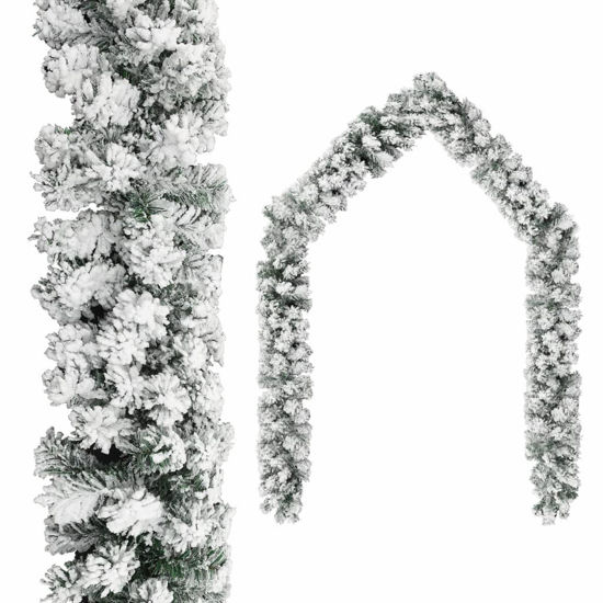 Picture of Christmas Garland with Flocked Snow 32'