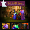 """Picture of Inflatable Airblown Witches with Cauldron with LED Light - 5.5"""""""