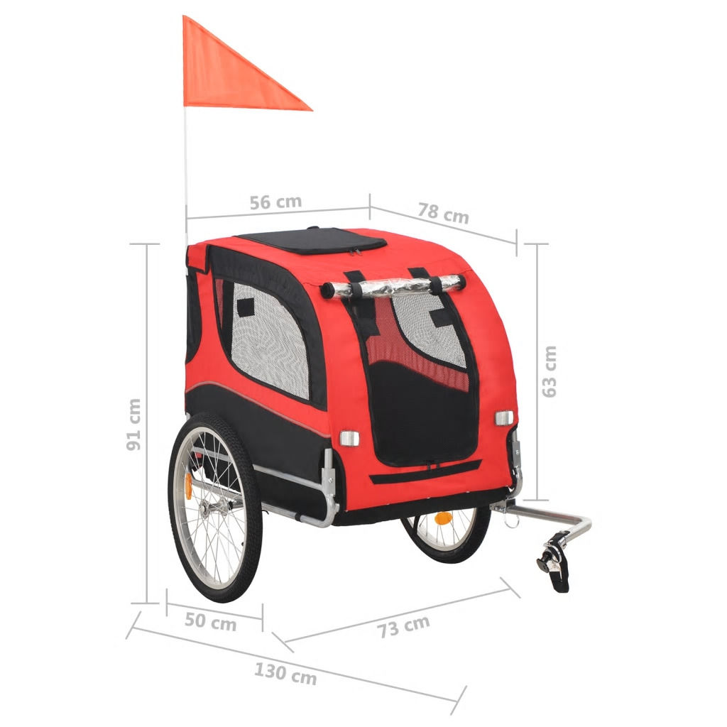 Picture of Pet Bike Trailer Red and Black