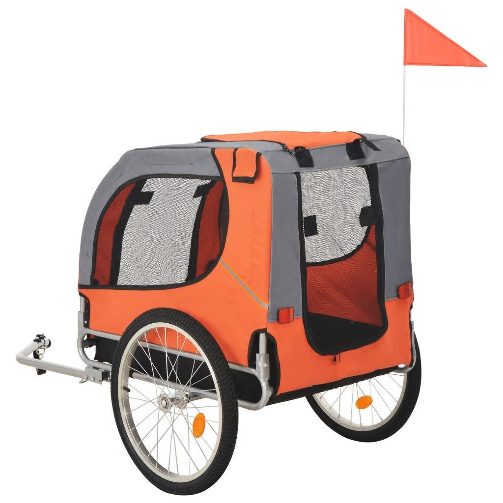 Picture of Pet Bike Trailer Orange and Gray