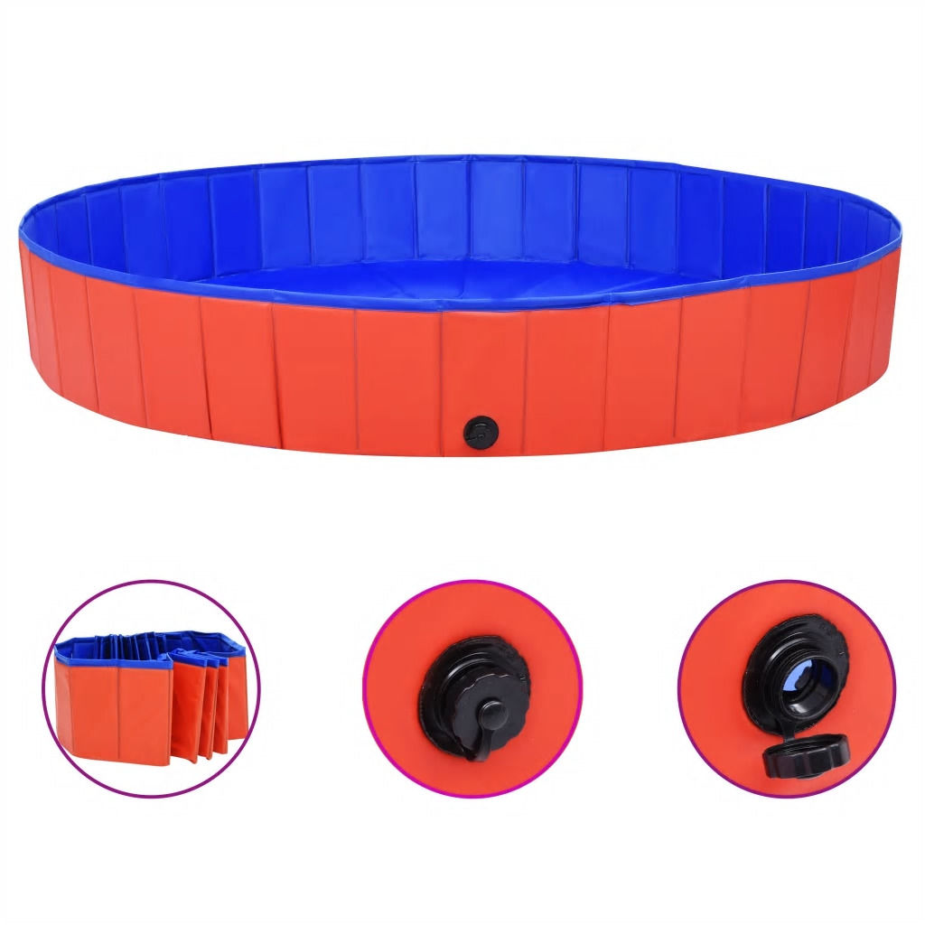 Picture of Foldable Dog Swimming Pool - Red