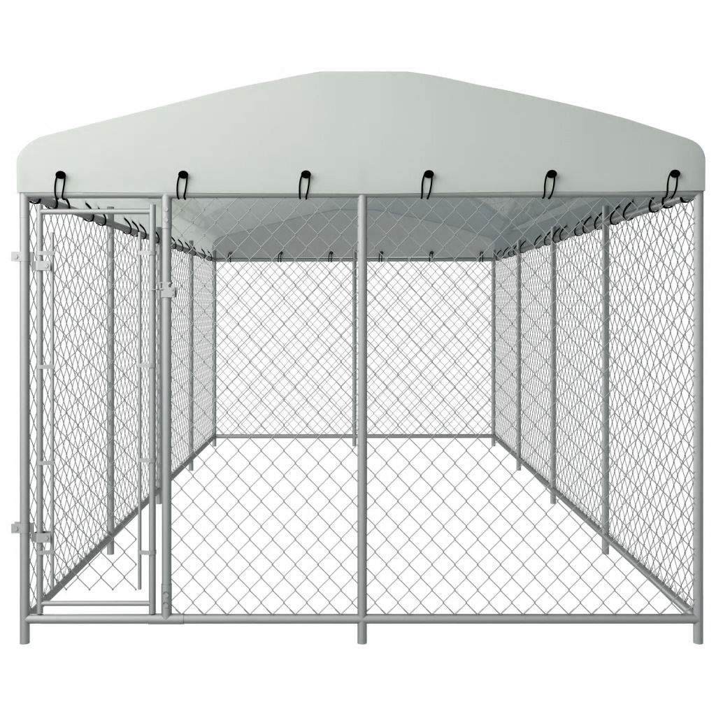 Picture of Outdoor Dog Kennel with Roof - 25'